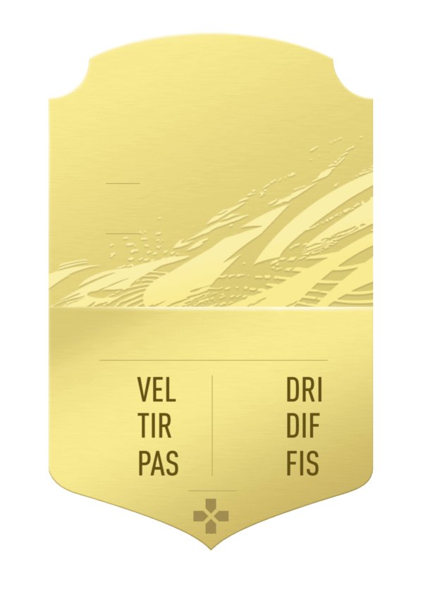FUT 21 gold card gigante personalizzabile