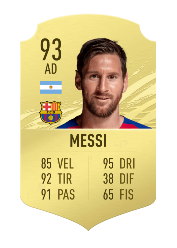 Messi FUT 21 gold card