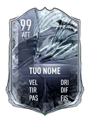 FUT 21 Freeze card gigante personalizzabile