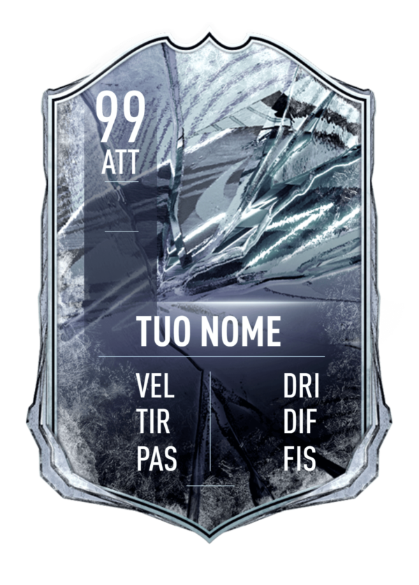FUT 21 Freeze card gigante personalizzabile