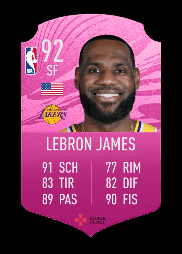 NBA card Lebron James gigante personalizzata