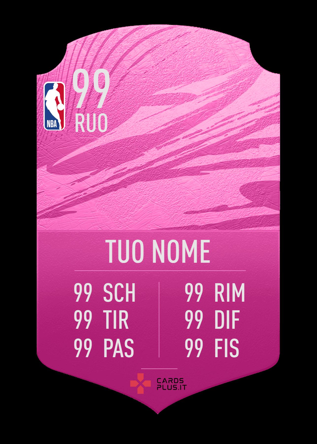 NBA card gigante personalizzata