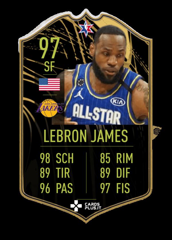 NBA All-Star card Lebron James gigante personalizzata