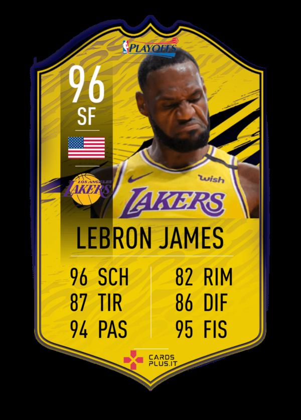 NBA playoff card Lebron James gigante personalizzata
