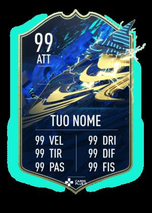 FIFA 21 TOTS ufficiale card gigante personalizzabile