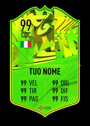 FIFA 21 Path to Glory ufficiale card gigante personalizzabile