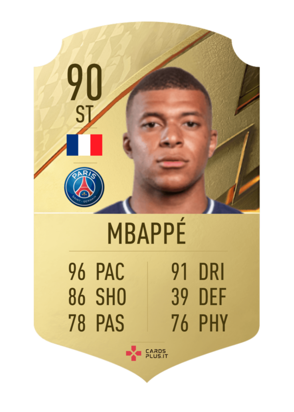 FIFA 22: Kylian Mbappé gold card personalizzabile